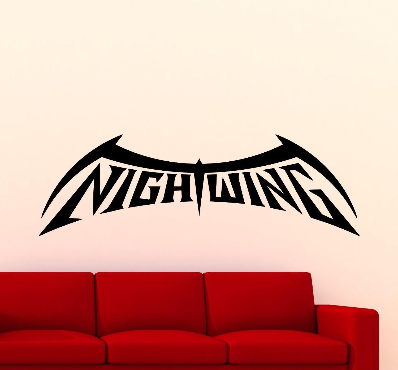 nightwing logo wall decal superhero sticker comics home interior nightwing logo wall decal superhero sticker comics home interior art decoration any room mural waterproof high