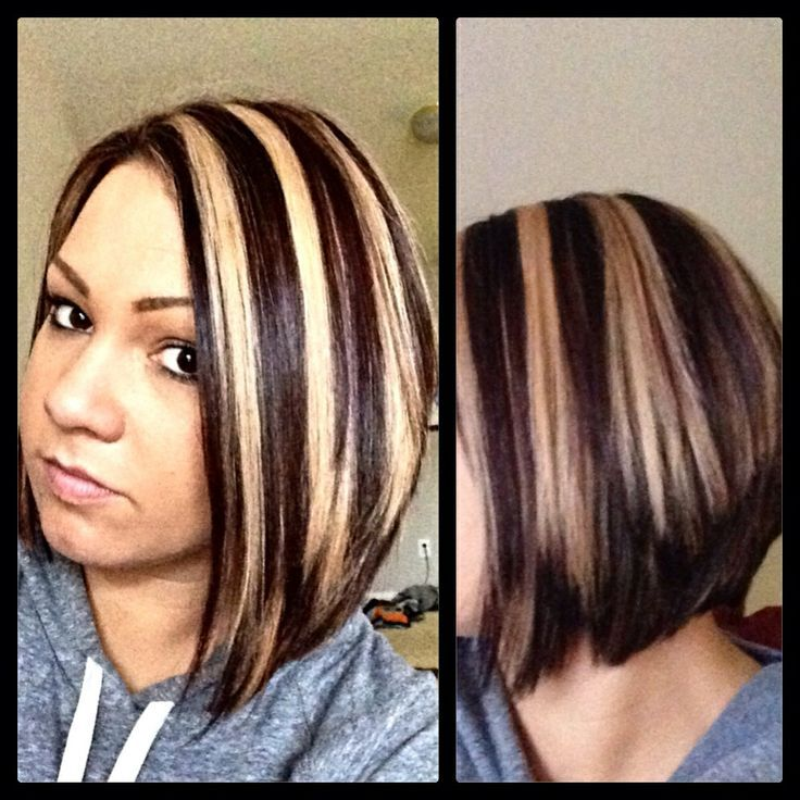 Chunky highlight lowlight hot short hair pinterest chunky highlight lowlight pmusecretfo Images