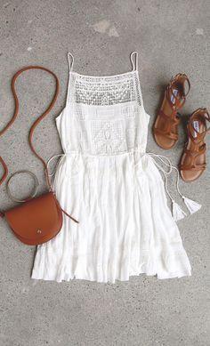 Idyllic White Lace Dress