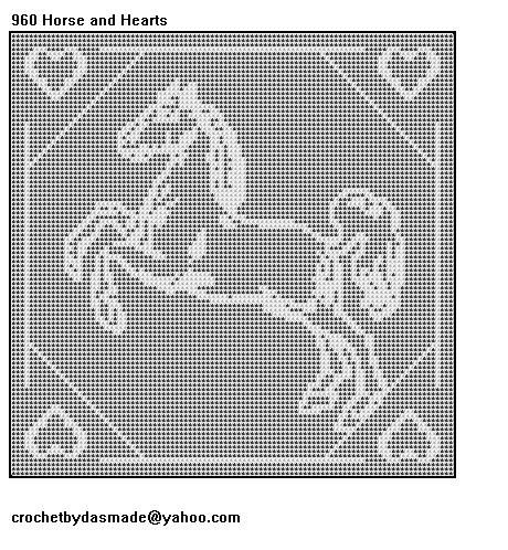 Filet Crochet Horse Patterns Crochet And Knitting Patterns Horse