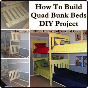The Homestead Survival How To Build Quad Bunk Beds DIY