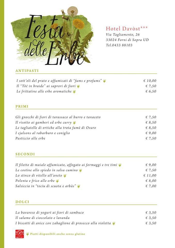 Forni di Sopra si tinge di verde! Quattro giorni dedicati alle erbe spontanee di Primavera.  Scopri il programma completo su WWW.FESTA-DELLE-ERBE.IT http://www.festa-delle-erbe.it/