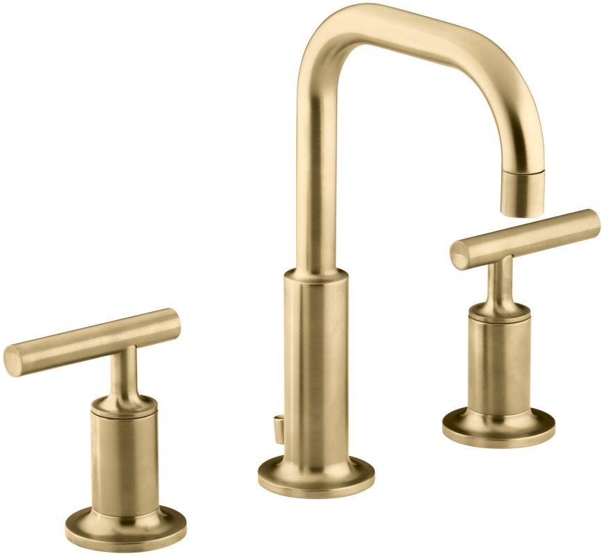 Kohler K 14406 4 Widespread Bathroom Faucet Sink Faucets Gold