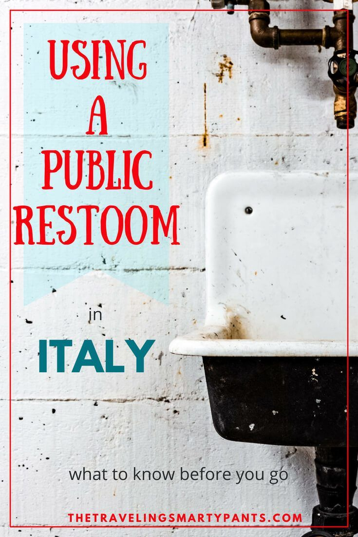 Using a Public Restroom in Italy in 2020 | Public, Italy ...
