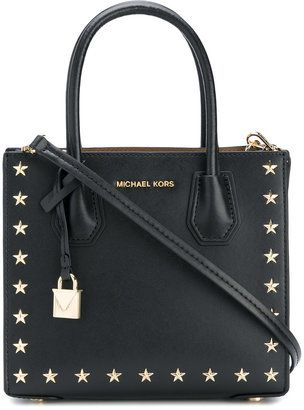 c3ba093ab8 MICHAEL Michael Kors star studded Mercer tote Black Leather Handbags, Cole  Haan, Bottega Veneta