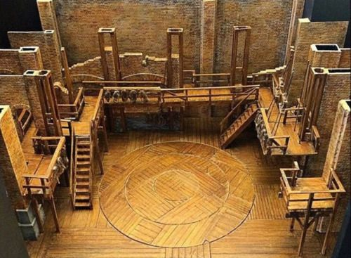 Hamilton S Set From An Above View With Images Set Design Theatre Set Design Stage Set Design