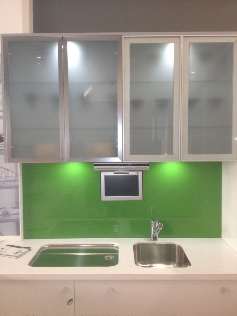 Simply Designed Kitchen Glass Kitchen Cabinets Glass Kitchen