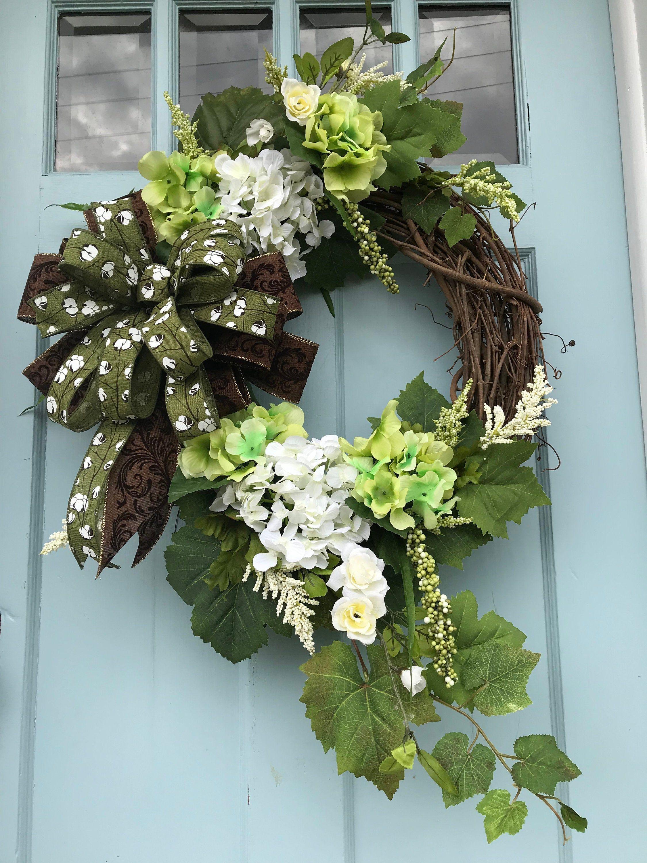 Beautifully Elegant Green floral Farmhouse Grapevine
