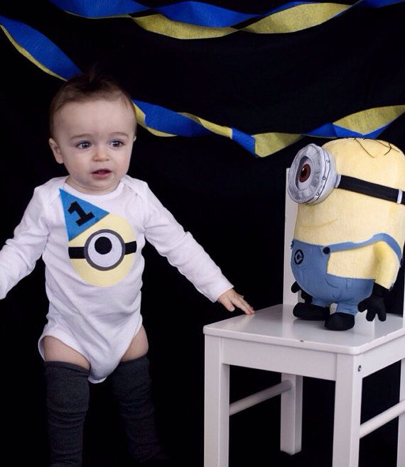 Minion Despicable Me Baby Boy Outfit 1st First by ByEllenBaby