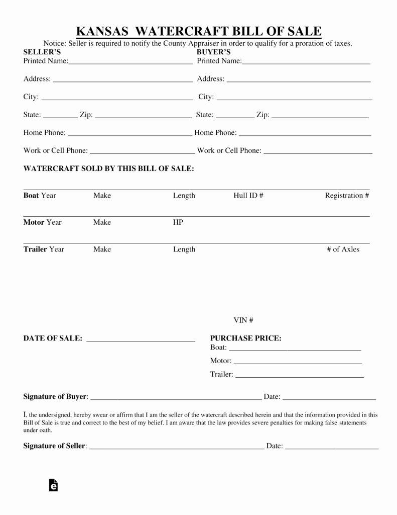 Bill Of Sale Trailer Best Of Free Kansas Watercraft Bill Of Sale Pdf Format Pdf Diy Wedding Program Fans Diy Wedding Programs Bill Of Sale Template