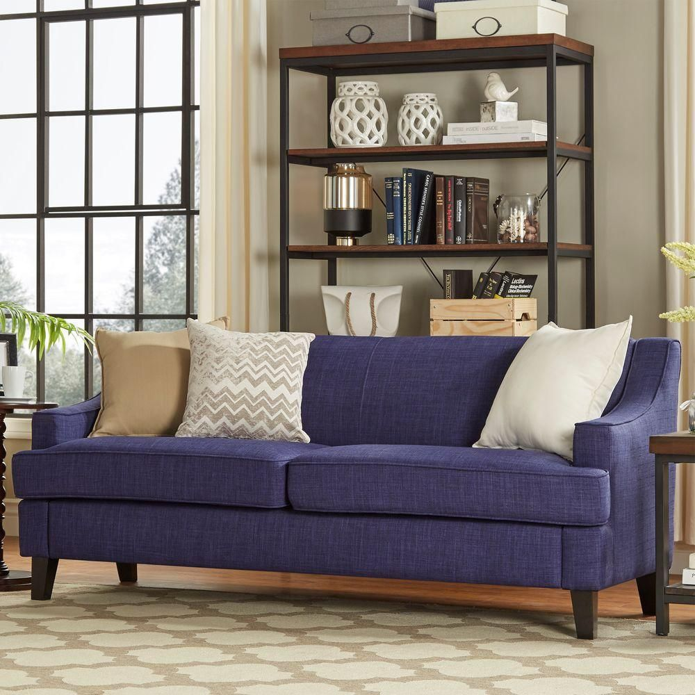 Homesullivan Watson Azure Linen Sofa