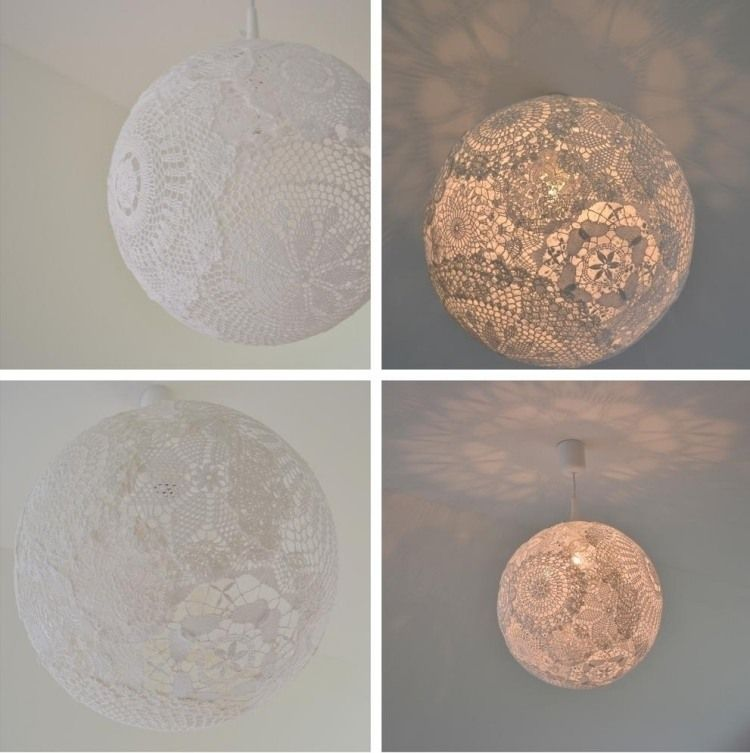 m rchenhafter kugeliger lampenschirm aus spitzendeckchen design inspiration pinterest. Black Bedroom Furniture Sets. Home Design Ideas