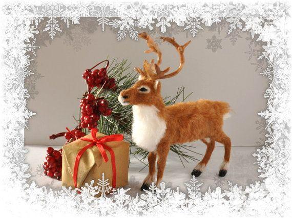 Dollhouse Miniature  Reindeer OOAK by malinikminiatures on Etsy,