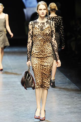 Leopard print and Lace: Audacious choice