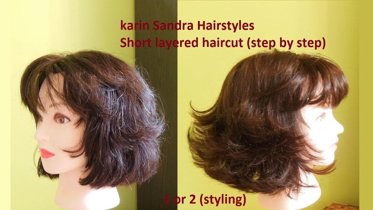 Haircut Tutorial Short Layered Bob Haircut With Bangs For Women Y