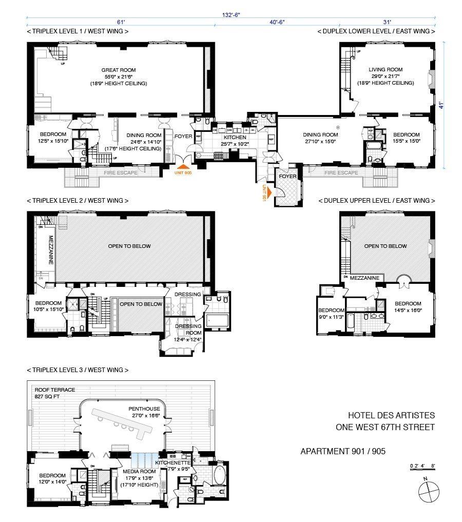 Corcoran 1 West 67th Street Apt Ph905 901 Upper West Side Real Estate Manhattan For Sale Homes Upper West Side C Nyc Real Estate Floor Plans Real Estate
