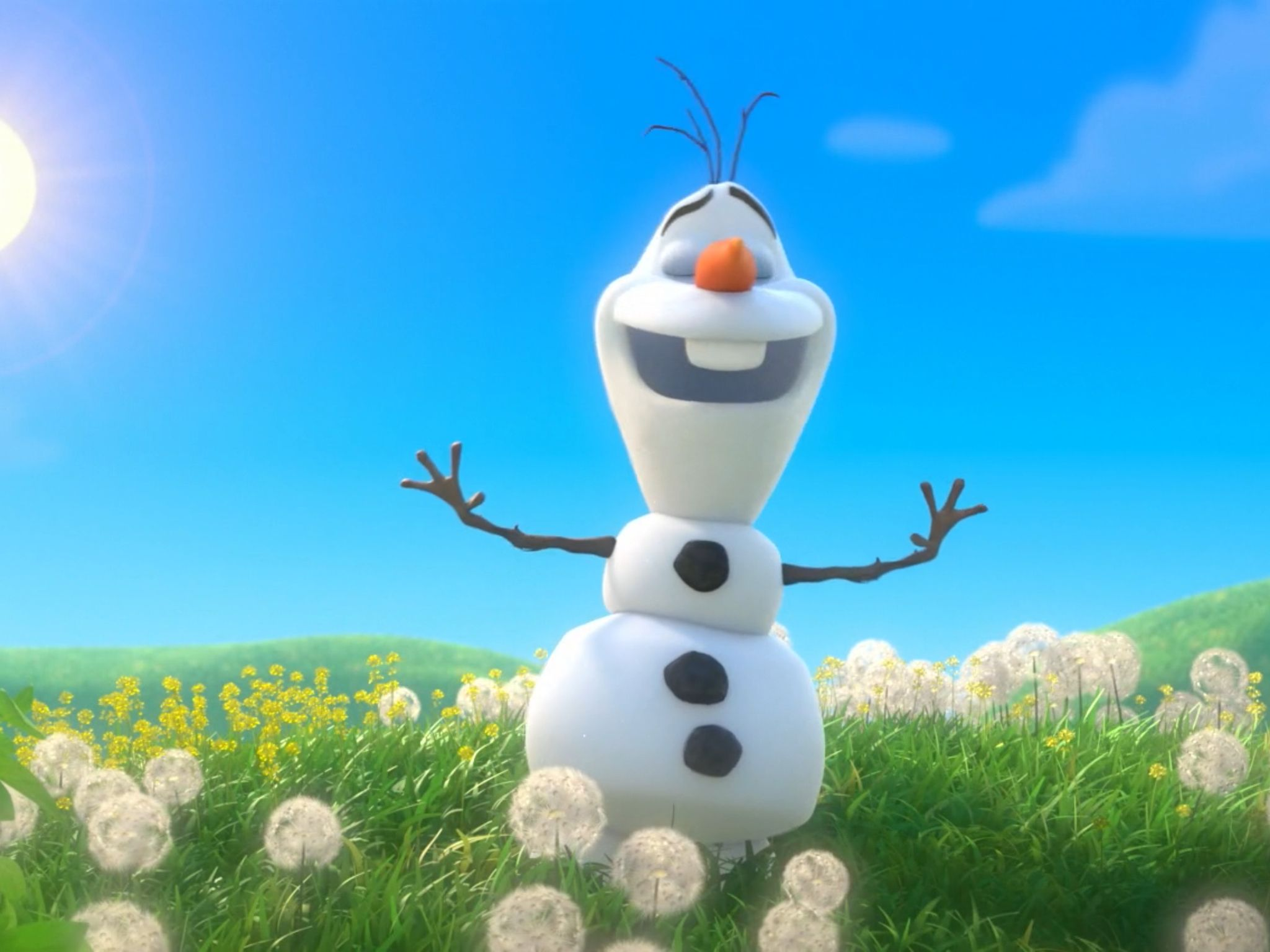 Olaf In The Summer Frozen