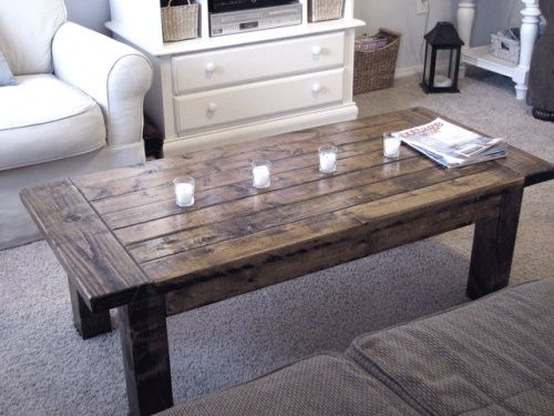 Coffee Table Tutorial Heavy Rustic And Substantial