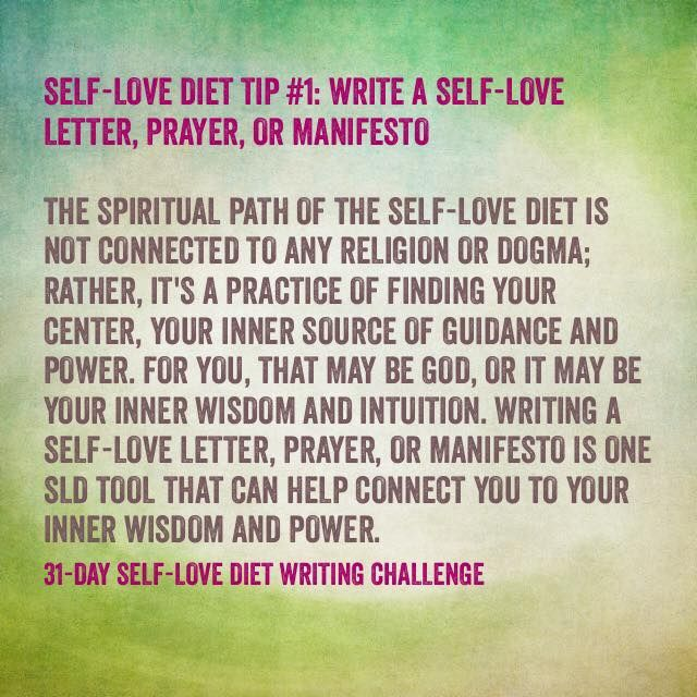 SelfLove Diet Writing Prompt Day  Write A SelfLove Letter
