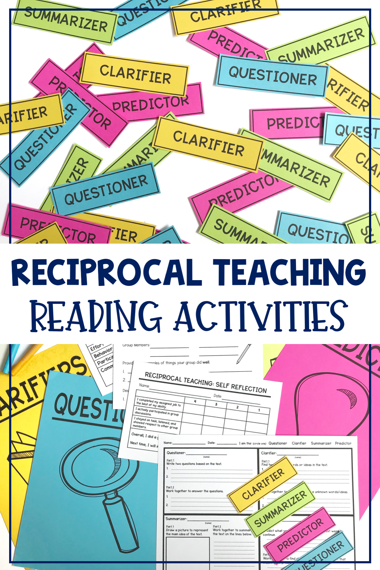 Reciprocal Teaching Graphic Organizers Role Cards Included Reciprocal Teaching Teaching Teacher Guides [ 1874 x 1249 Pixel ]