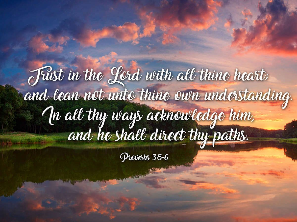 Proverbs 3:5-6 #6 KJV 'Trust in the Lord' Christian Scripture Wall Art | Christian scripture, Proverbs, Scripture