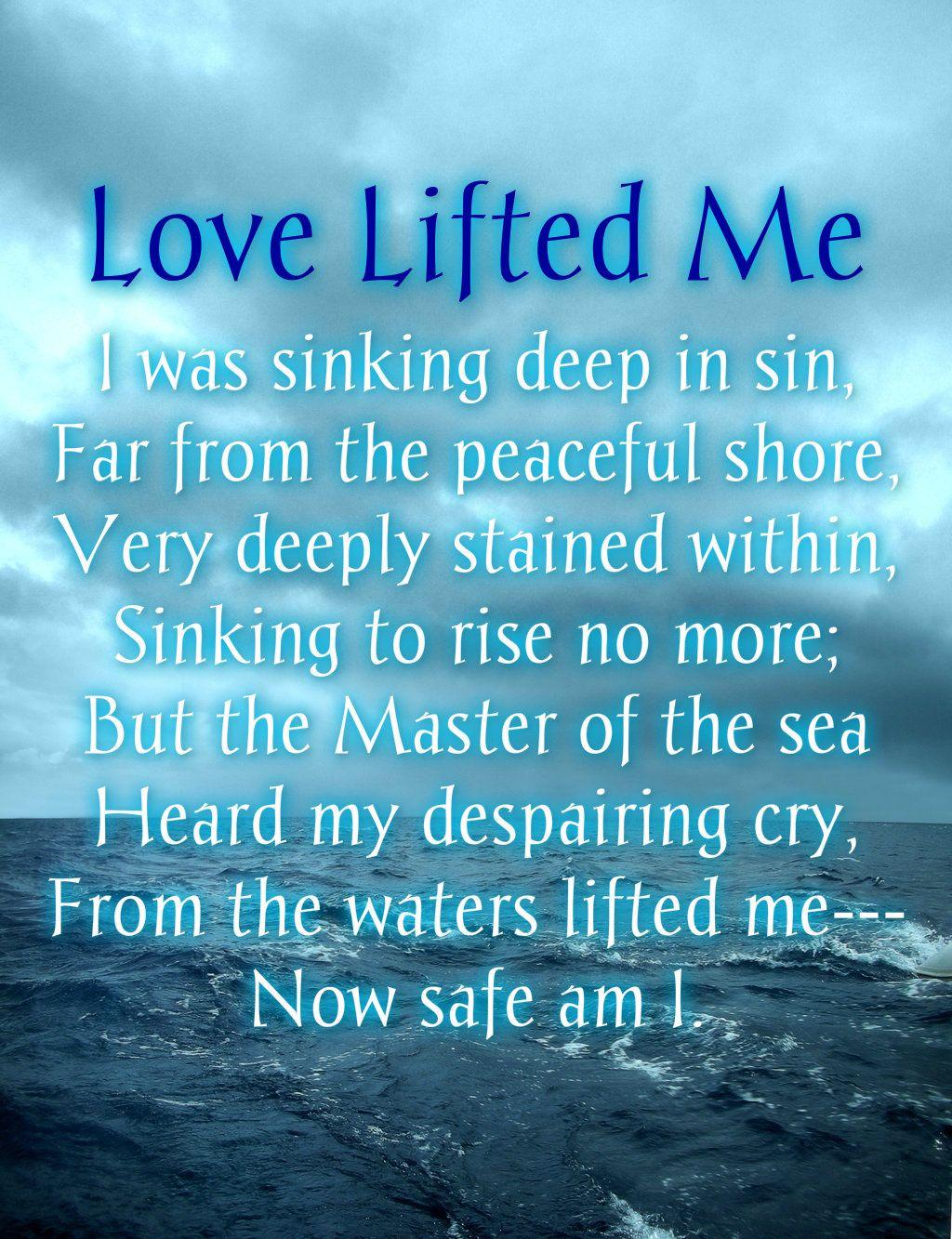 "My Heart · Singing · Scripture Art · ""Love Lifted Me"" | Hymn by James Rowe Then  Sings My Soul, Serve"