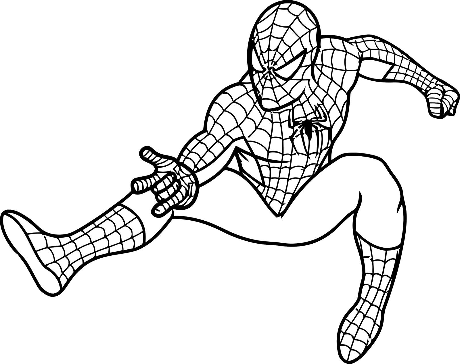 Colouring Spiderman Cartoon