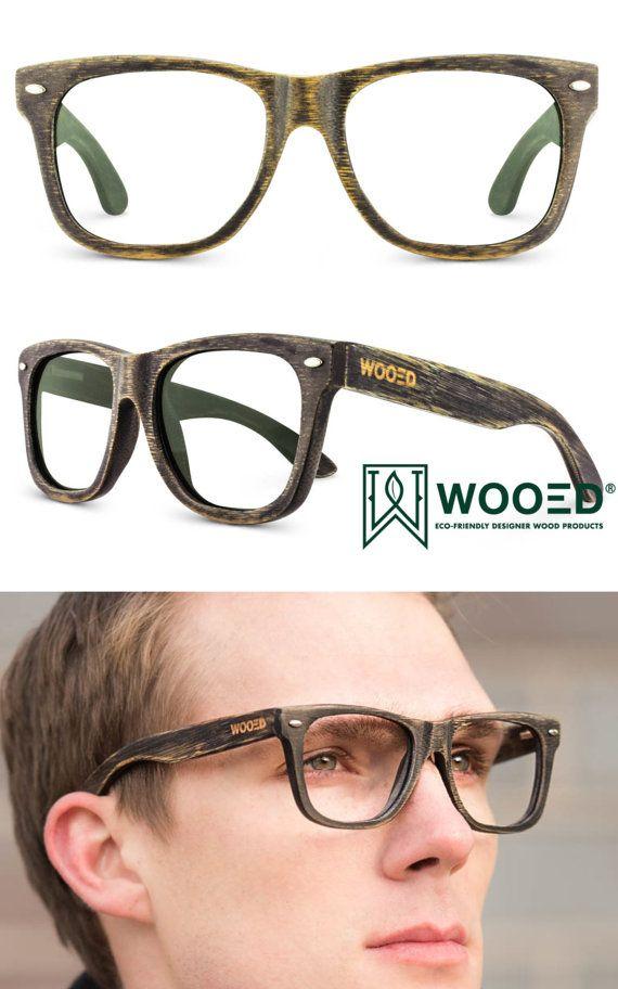f1a4fa193f2 Prescription Wood Bamboo Glasses Wooden Eyeglasses Mens by WOOED ...