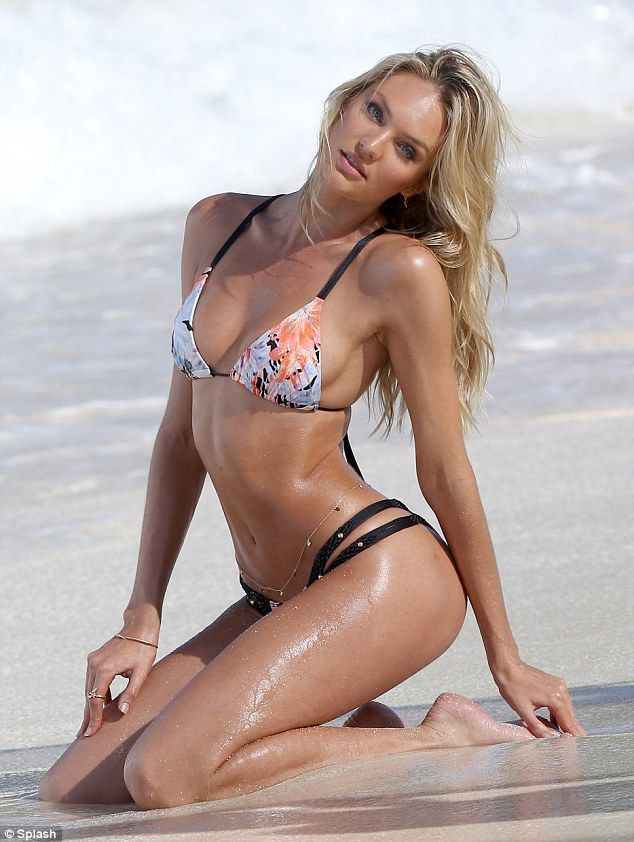 Candice Swanepoel shows off hot body as she poses on St ...