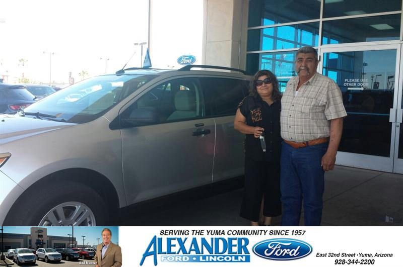 Congratulations To Mario A Martinez Lopez On Your Ford Edge Purchase From Jesse Rueda At Bill Alexander Ford Lincoln Newcar