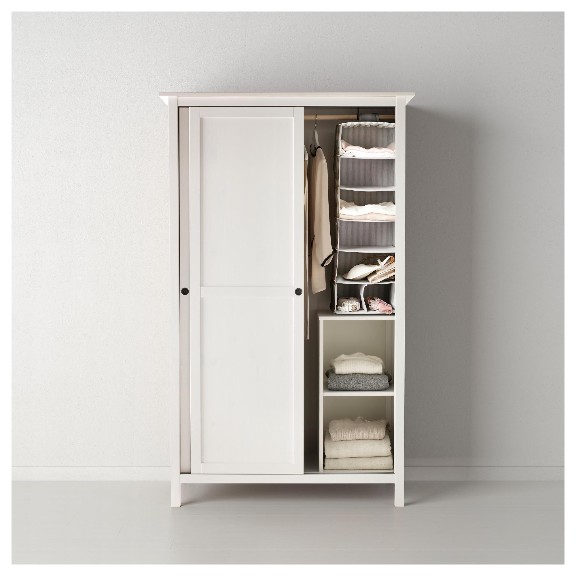 Wardrobe in sliding HEMNES White stain with 2 IKEA doors iPkXuOZ