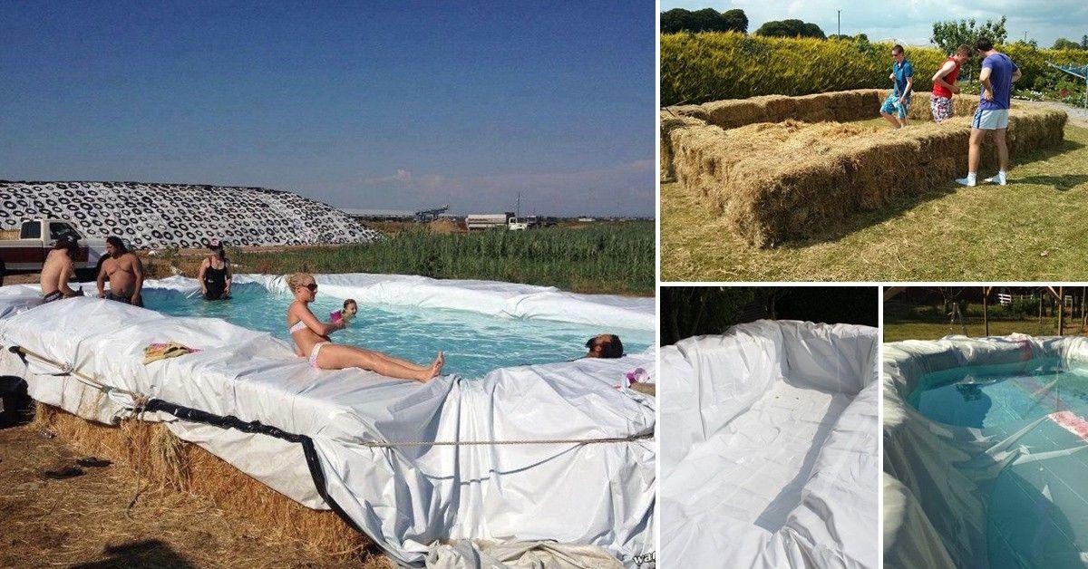 C mo construir una piscina con fardos de paja fardos de for Como hacer una alberca con tarimas