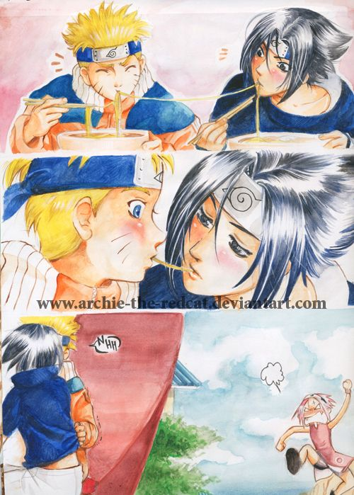 SasuNaru:kissing? by Archie-The-RedCat deviantart com on @deviantART