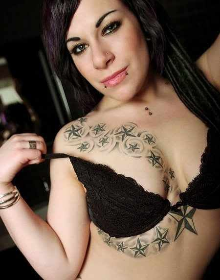 tattoos Star breast
