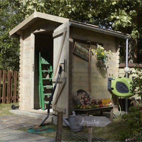 Abri de jardin en bois Bex, 25 m², ép 19 mm jardin Pinterest - abris de jardin adossable