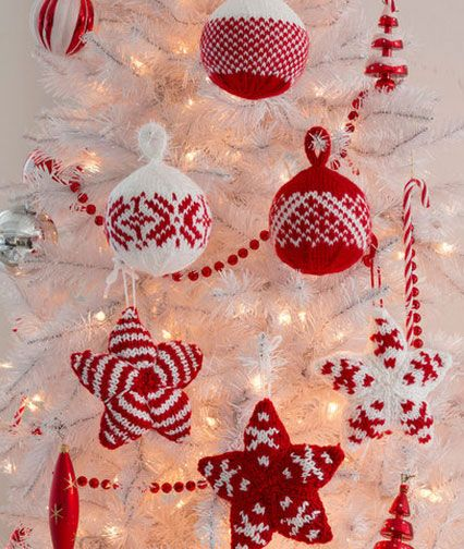 Free Pattern Knitted Christmas Ornament Pattern Knitting And