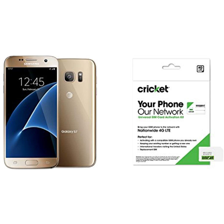 Cricket No Contract Samsung Galaxy S7 Gold Platinum 32gb Be