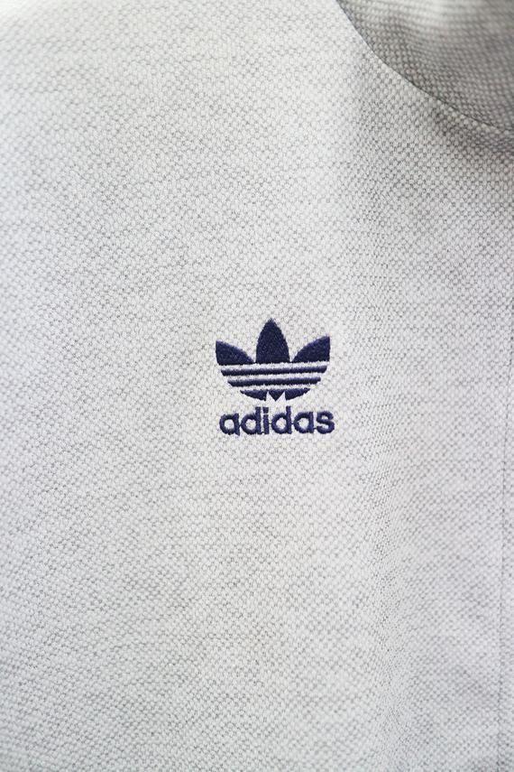 375ad6efc2460 Vintage ADIDAS Three Stripes Small Logo Small Spell Sportswear Gray ...