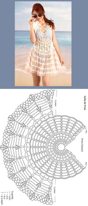 Croche da Moda : Gráficos e receitas – Saídas de praia de crochê ...