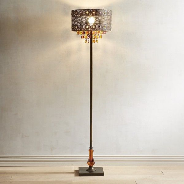 Pier 1 Floor Lamps Awesome Pier 1 Imports Bohemian Crystal Bronze Floor Lamp $159 ❤ Liked On Design Ideas