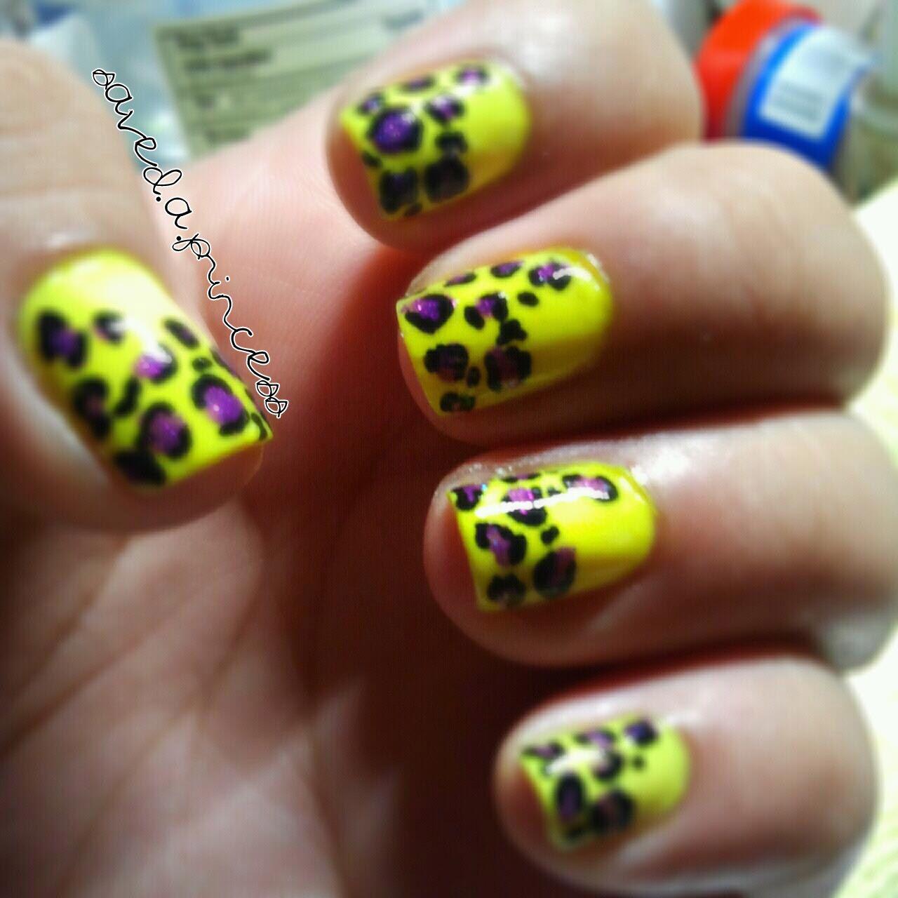 leopard neon nails | Nasty Gal x MINKPINK | Pinterest