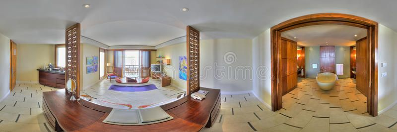 Junior suite in Le Touessrock Mauritius 360 degrees panorama of luxurious juni