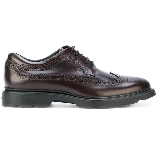 71b4a2fedce672 Hogan H304 New Route brogues (420 CAD) ❤ liked on Polyvore featuring men s  fashion