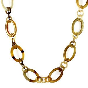 Bull Horn Chain Necklace Short now featured on Fab.