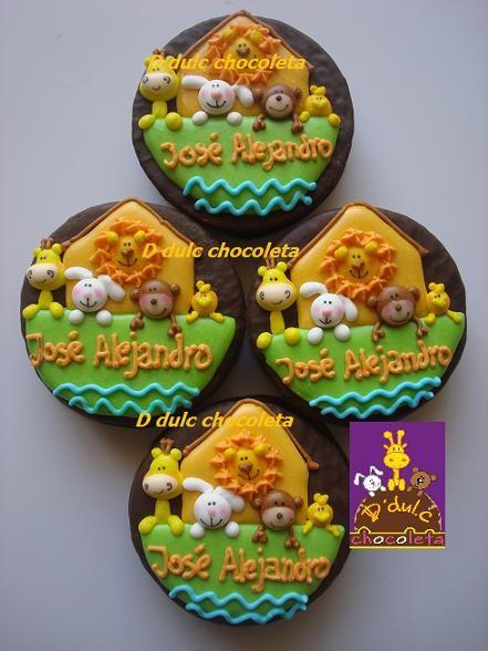 decorado galleta malvavisco bomboniere Pinterest Arca de noé y