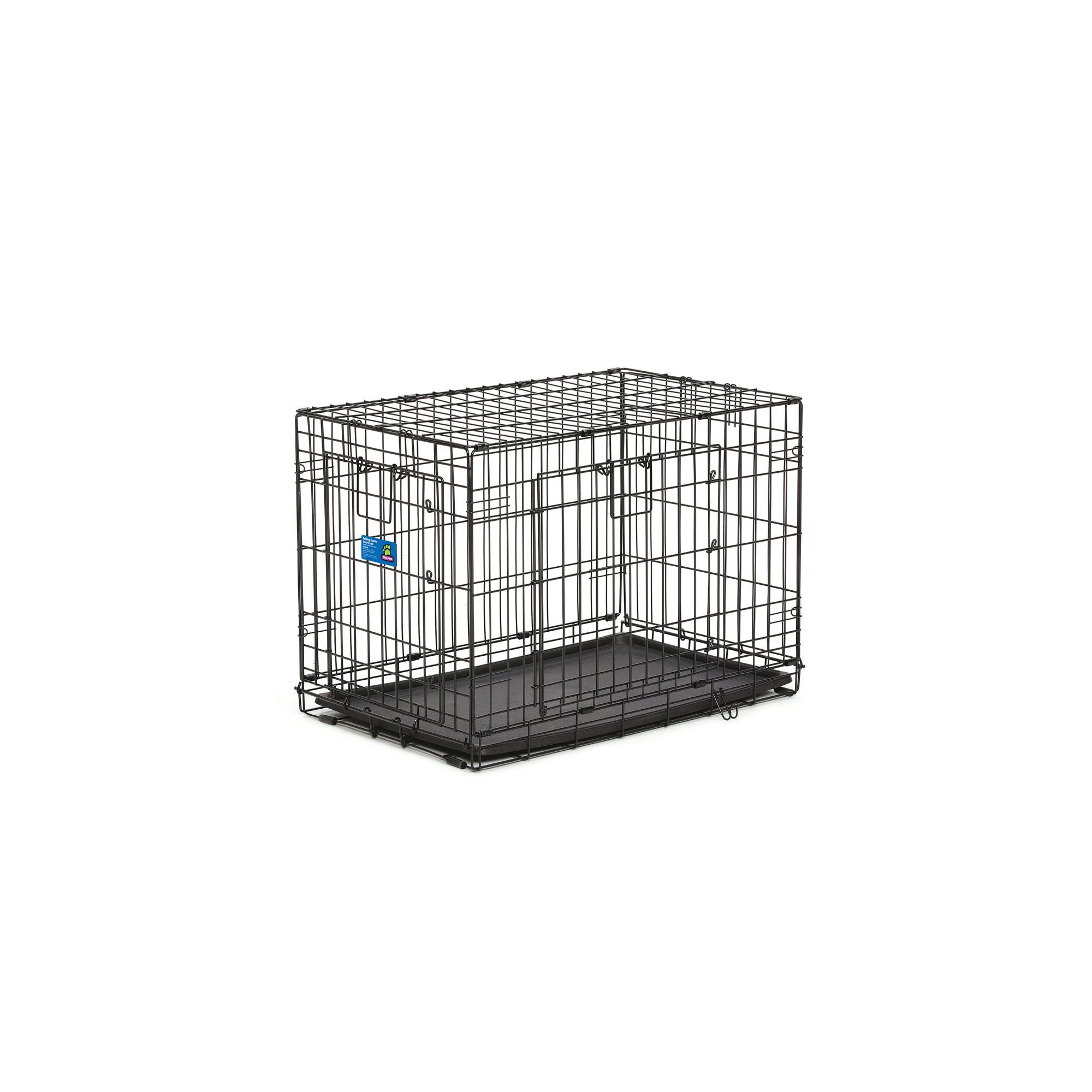 Top Paw Double Door Wire Dog Crate Size 30l X 19w X 21h Black