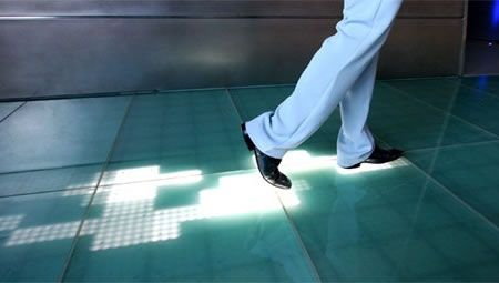 Sensacell flooring. As you walk across it, the floor lights up. I ...