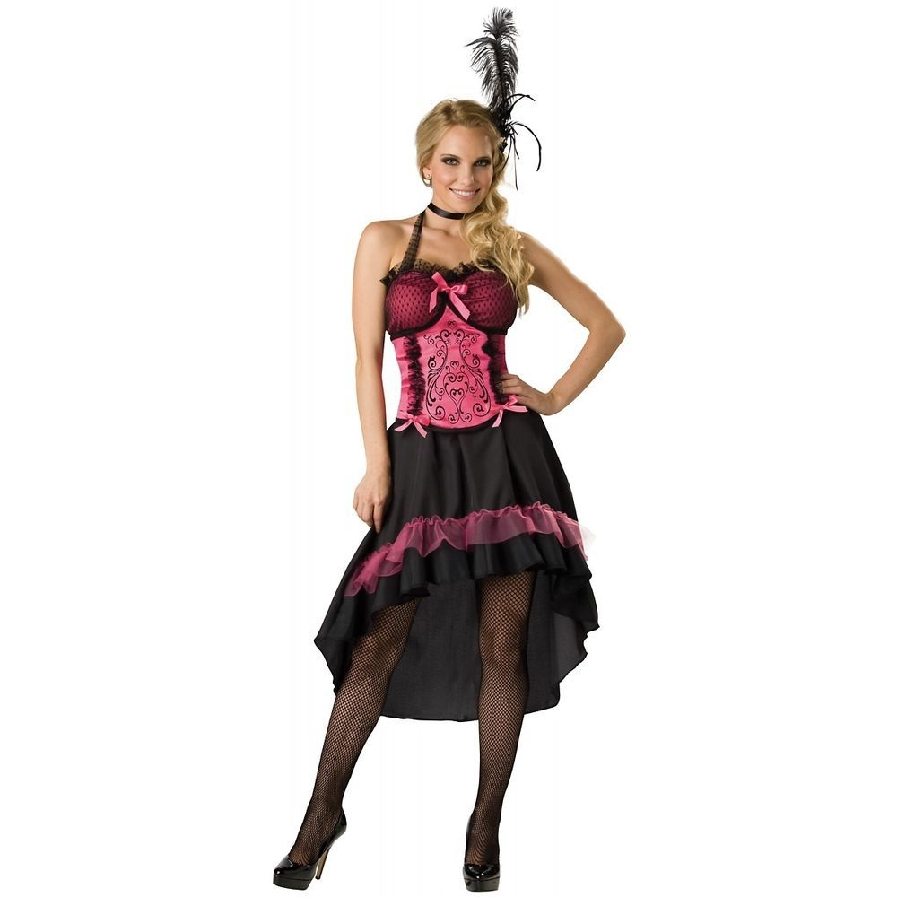 saloon girl womens sexy can can dancer western halloween costume stdplus sizes - Can Can Dancer Halloween Costume