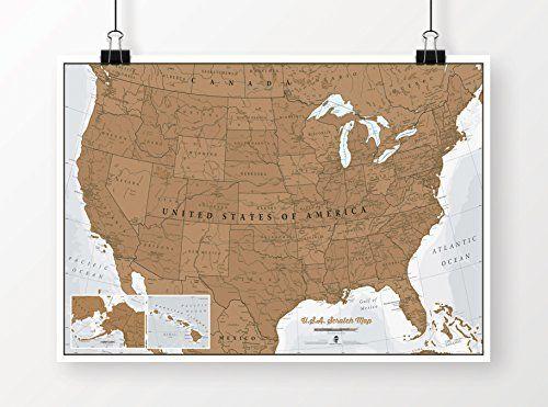 Scratch USA Map Maps International Httpwwwamazoncomdp - Scratch us map