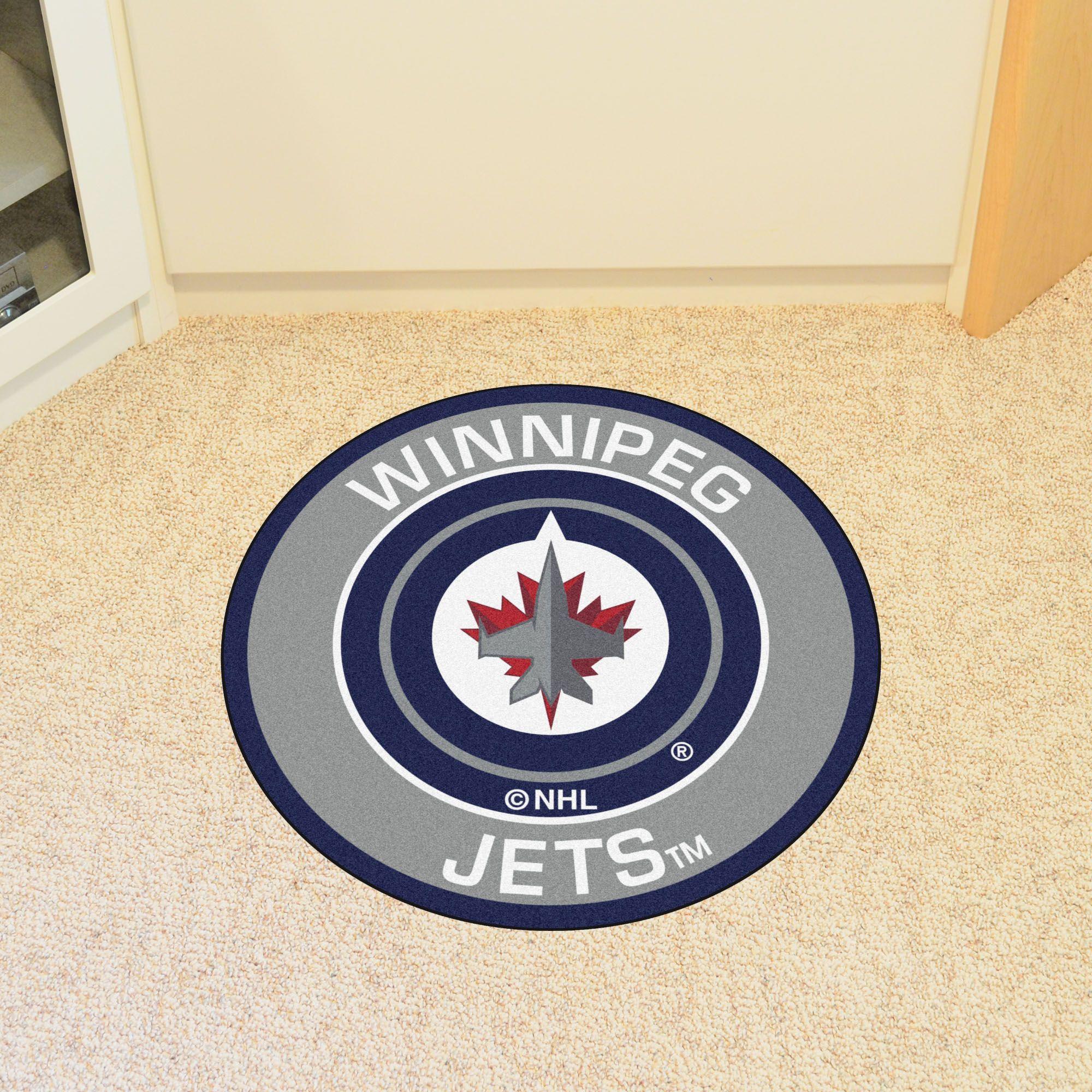 Winnipeg Jets Roundel Mat Floor Rugs